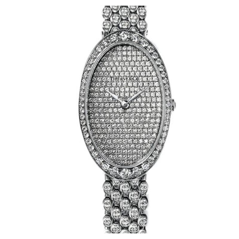 蒂芙尼 TIFFANY COCKTAIL系列 18k白金镶嵌钻 女士