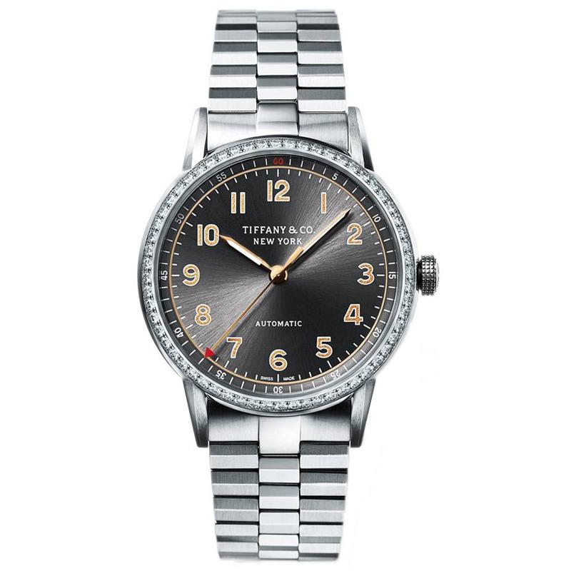 蒂芙尼TIFFANY CT60系列34毫米镶钻腕表