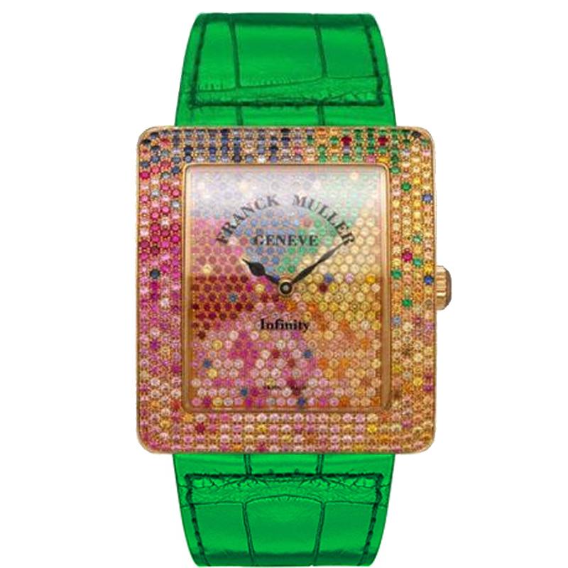 法穆兰 INFINITY 3740 QZ 4 SAI D CD 绿色表带 石英 女士