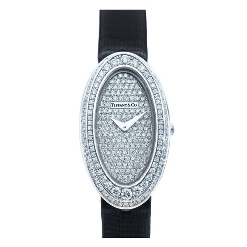 蒂芙尼 TIFFANY COCKTAIL系列 18k白金镶钻腕表 石英 女士