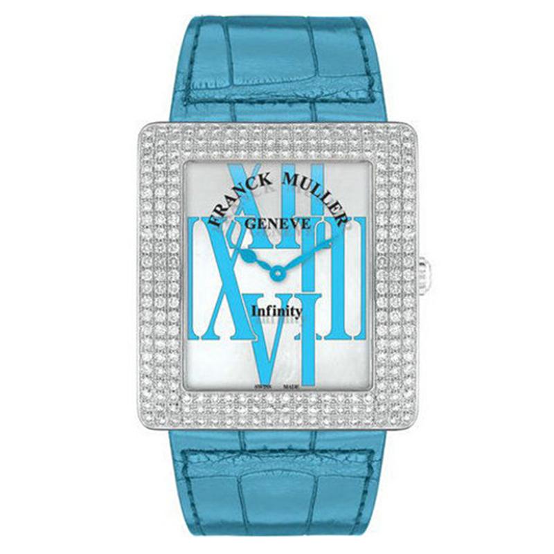法穆兰 INFINITY 3740 QZ R AL D 蓝色时标 石英 女士