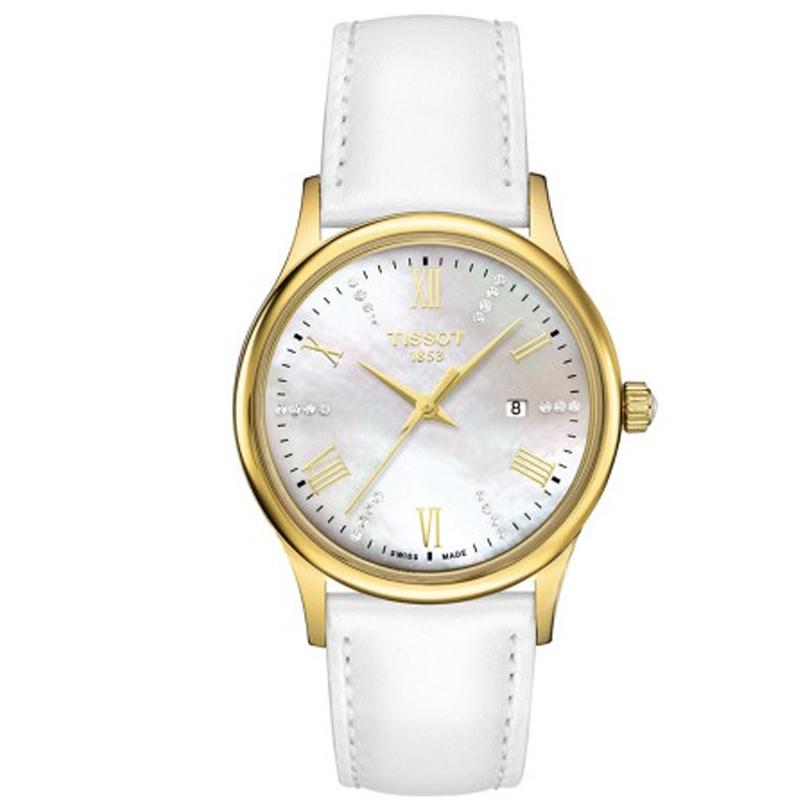 天梭 梦媛 梦媛系列腕表-白色表带 石英 女士